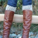 Crochet Boot Cuffs Leg Warmers Boot..