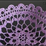 Crochet Lace Doily Bowl Basket Lave..