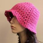Floppy Crochet Hat Hot Pink Summer ..