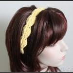 Women's Crochet Headband Yellow Hai..